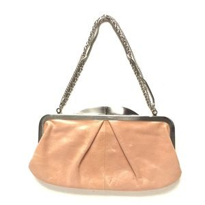 VINTAGE Hobo HAYLEY leather evening clutch PINK